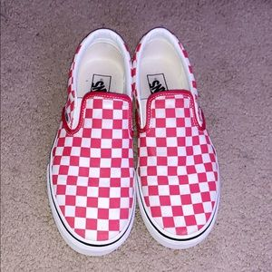 RED CHECKERBOARD VANS❤️
